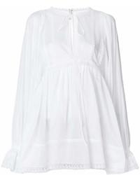 Blusa campesina con volante blanca de Dolce & Gabbana