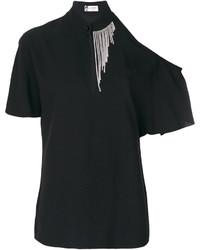 Blusa con adornos negra de Lanvin