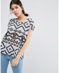 Blusa con estampado geométrico negra de Vero Moda