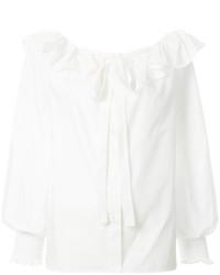 Blusa con volante blanca de Marc Jacobs