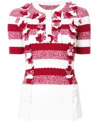 Blusa con volante roja de Maison Margiela