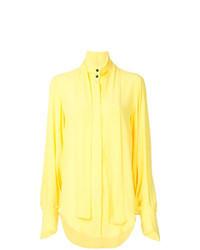 Blusa de botones amarilla