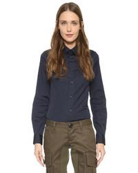 Blusa de botones azul marino de Dsquared2