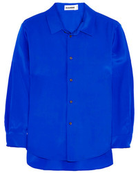 Blusa de botones azul