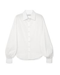 Blusa de botones blanca de Anna Quan
