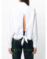Blusa de Botones Blanca de Mauro Grifoni