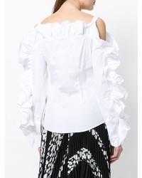 Blusa de Botones Blanca de Sara Roka