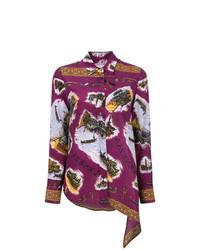 Blusa de botones bordada morado oscuro de Golden Goose Deluxe Brand