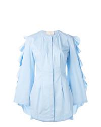Blusa de Botones Celeste de Sara Battaglia