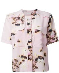 Blusa de botones con print de flores rosada de Lala Berlin