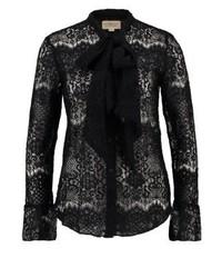 Blusa de Botones de Encaje Negra de Ralph Lauren