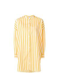 Blusa de botones de rayas verticales amarilla de Aspesi