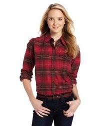 Blusa de botones de tartan original 4300538