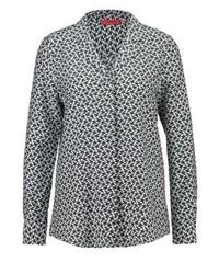 Blusa de botones estampada gris de Hugo Boss