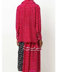 Blusa de Botones Estampada Roja y Blanca de Marni