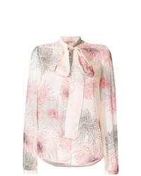 Blusa de botones estampada rosada de N°21