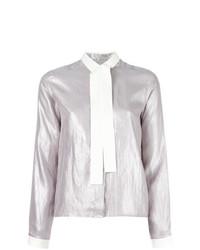 Blusa de botones gris de MM6 MAISON MARGIELA