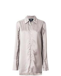 Blusa de Botones Gris de Yang Li