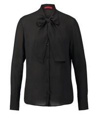 Blusa de Botones Negra de Hugo Boss