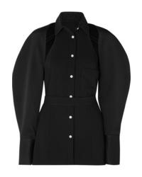 Blusa de botones negra de Peter Do