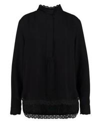 Blusa de Botones Negra de Rue de Femme