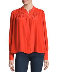 Blusa de botones roja original 4299595