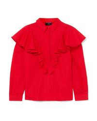 Blusa de botones roja de Mother of Pearl