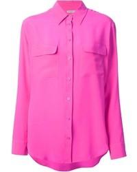 Blusa de botones rosa