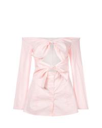 Blusa de botones rosada de Jovonna