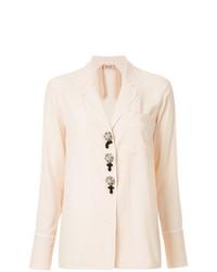 Blusa de botones rosada de N°21