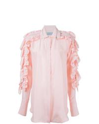 Blusa de botones rosada de Preen by Thornton Bregazzi