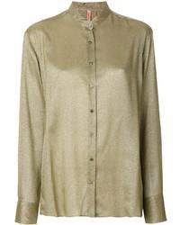 Blusa de botones verde oliva original 4299679