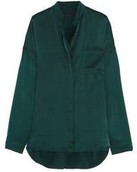 Blusa de botones verde oscuro de Haider Ackermann