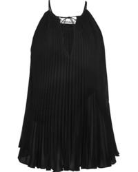 Blusa de gasa plisada negra de Elizabeth and James