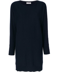 Blusa de lana azul marino de Le Tricot Perugia