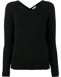 Blusa de lana de punto negra de Helmut Lang