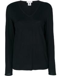 Blusa de lana negra de Le Tricot Perugia