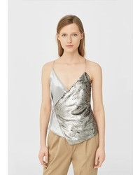 3f2b5c280b Comprar una blusa de lentejuelas plateada  elegir blusas de ...