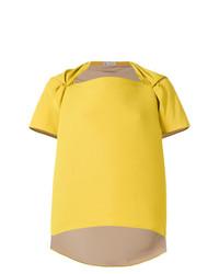 Blusa de manga corta amarilla de Maticevski