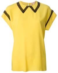 Blusa de manga corta amarilla de No.21