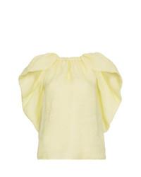 Blusa de manga corta amarilla de Rosie Assoulin