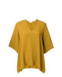 Blusa de manga corta amarilla de Veronique Leroy