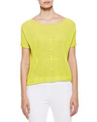 Blusa de manga corta amarillo verdoso original 6844930