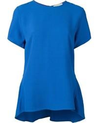 Blusa de manga corta azul original 1288599