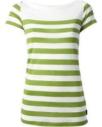 Blusa de manga corta blanca y verde original 9714441