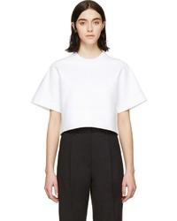 Blusa de manga corta blanca de Dsquared2