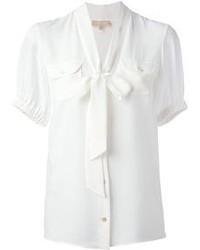 Blusa de manga corta blanca de Michael Kors