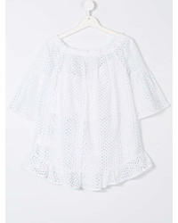 Blusa de manga corta blanca de Elsy