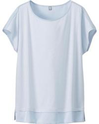 Blusa de manga corta celeste original 2880321