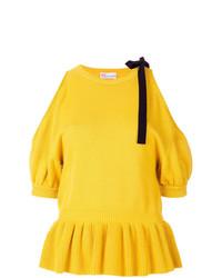 Blusa de manga corta de punto amarilla de RED Valentino